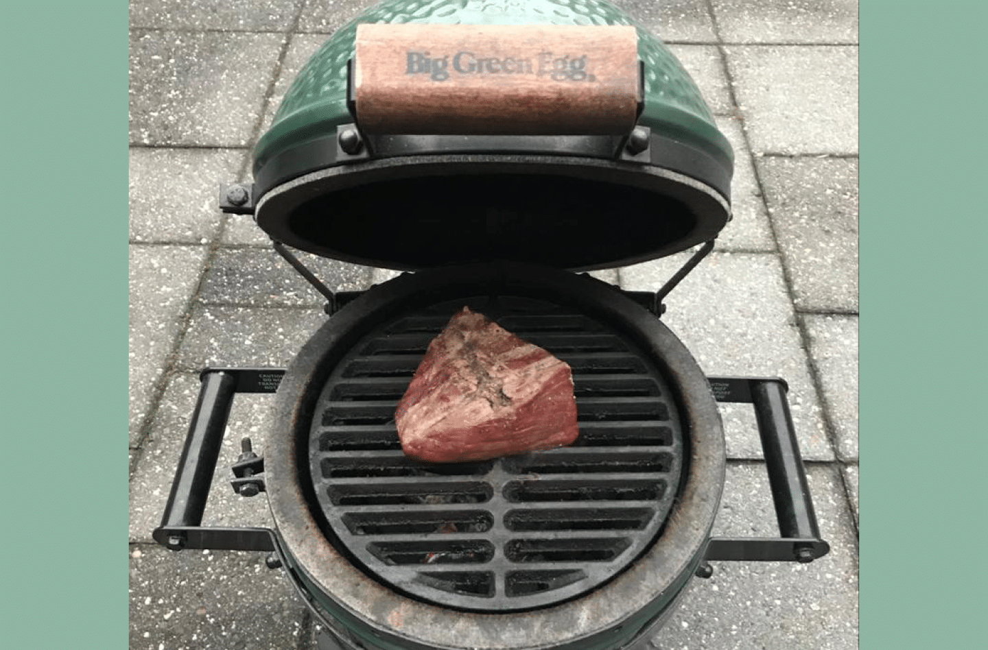 Rosbief op green egg