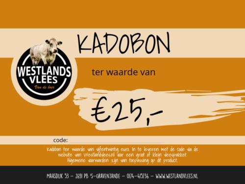 Kadobon westlands vlees