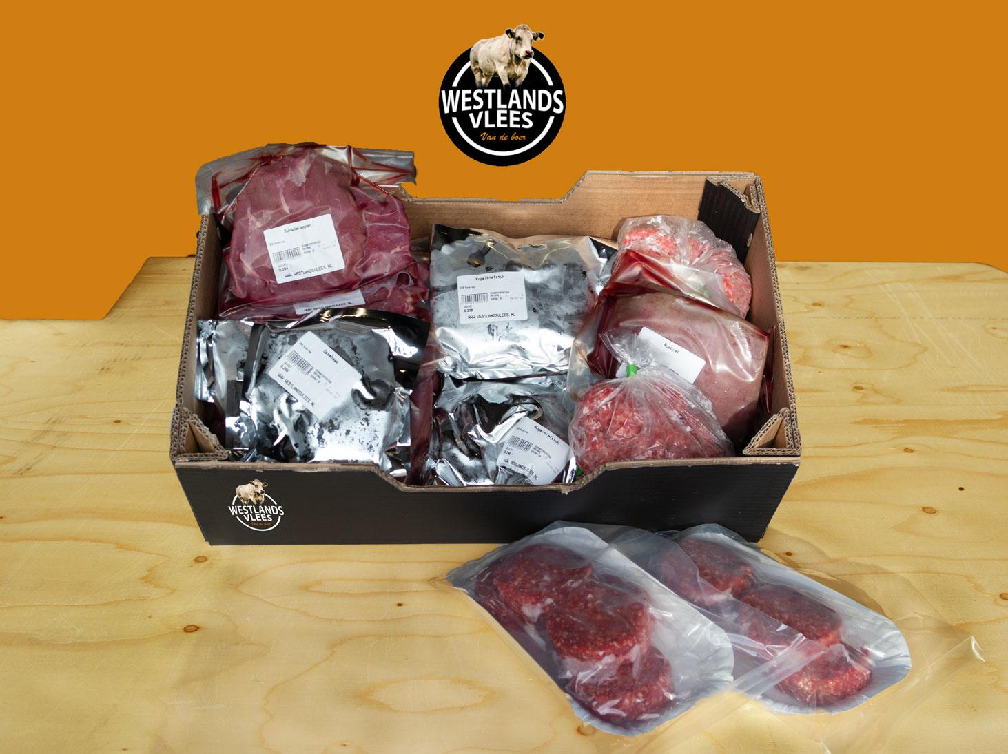 Vleespakket rund groot 11 tot 13 kilo Westland