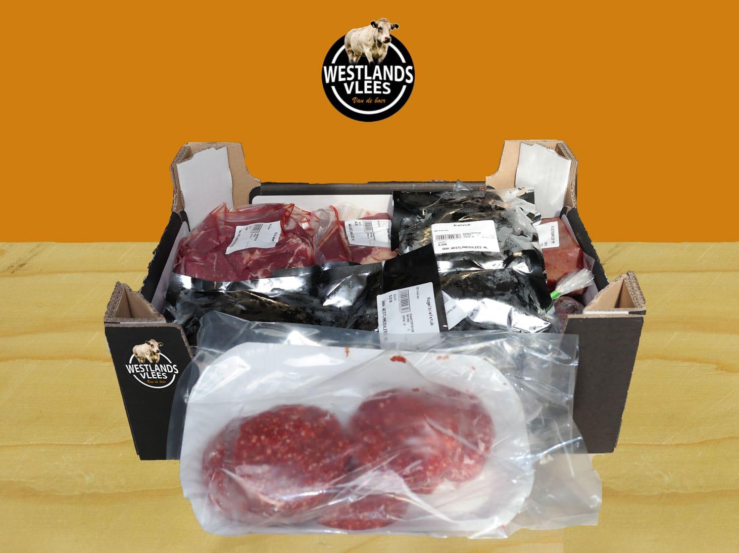 Vleespakket rund klein 5 tot 7 kilo Westland